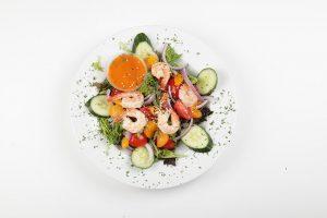 Salade de crevettes - Complexe Hotelier Le 55