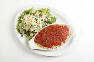 Spaghetti et salade césar - Complexe Hotelier Le 55